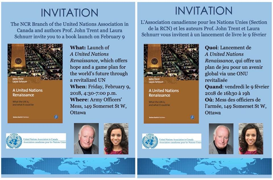 Book Launch – Friday February 9th – A United Nations Renaissance